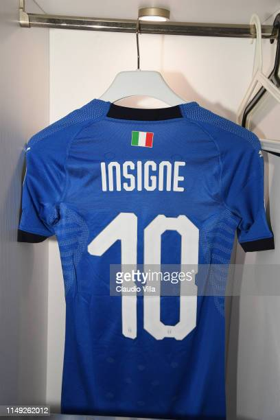 Detail of Lorenzo Insigne's jersey prior the UEFA Euro 2020 Qualifier between Italy and Bosnia and Herzegovina at Juventus Stadium on June 11, 2019...