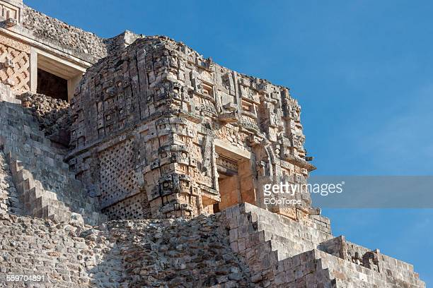 Detail of Magician Pyramid, Uxmal, Mexico