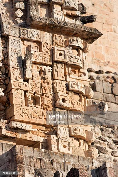 Detail of Magician Pyramid, Uxmal, Yucatan, Mexico