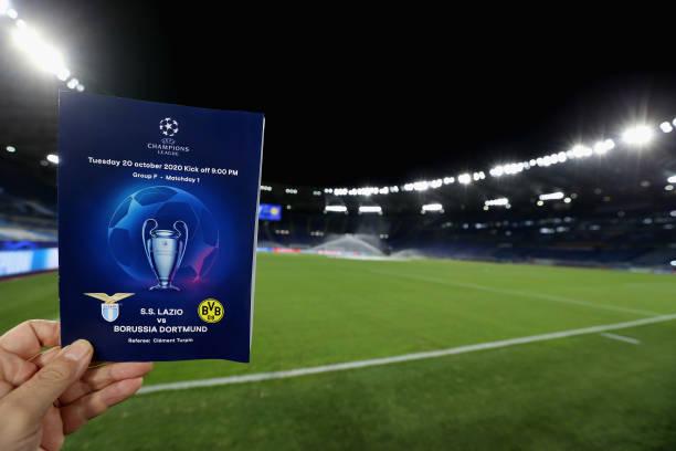 ITA: SS Lazio v Borussia Dortmund: Group F - UEFA Champions League
