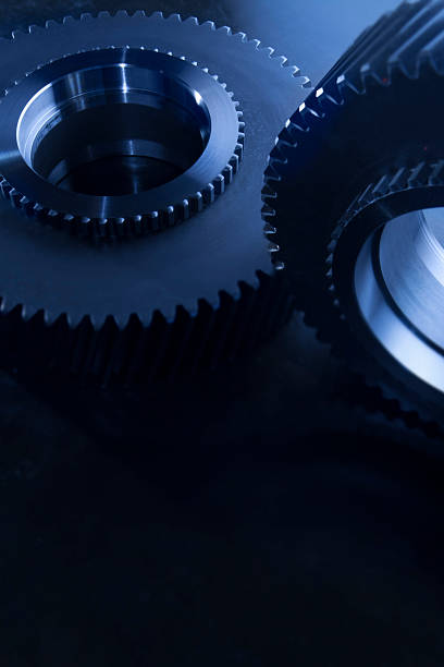 Detail Of Matching Gears In Blue Wall Art