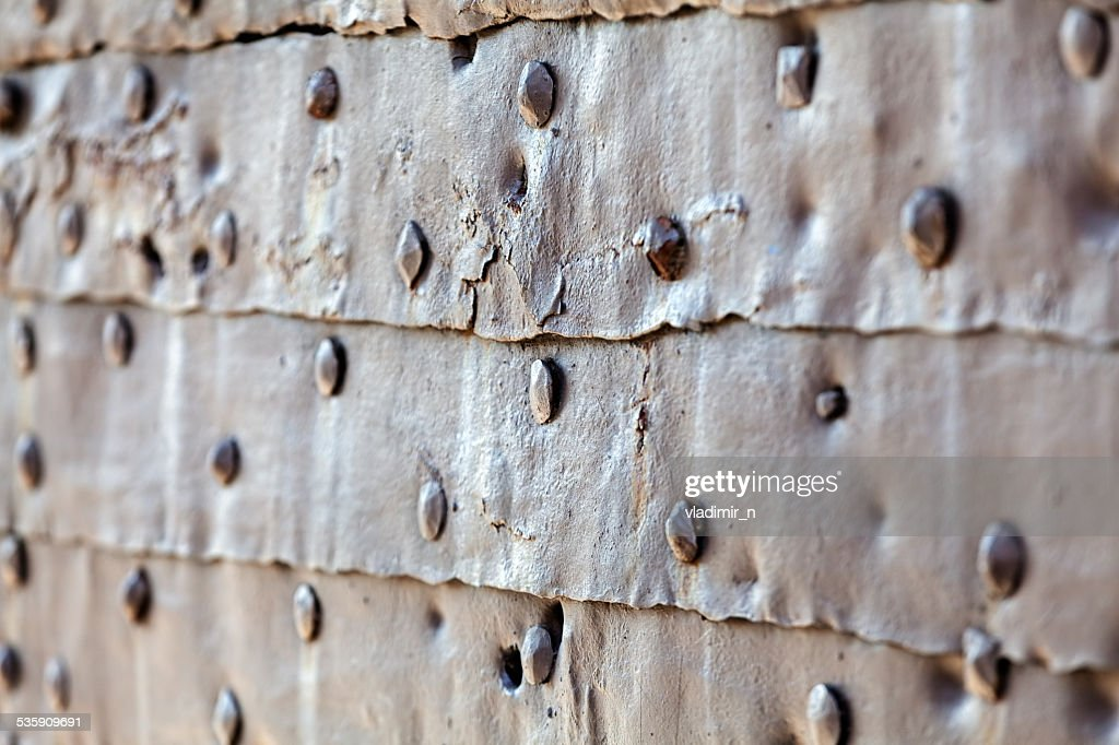 detail of medieval gate door : Stock Photo