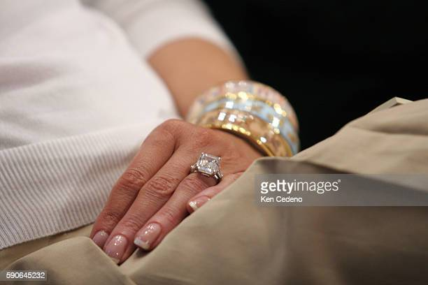 Detail of Melania Trump's wedding ring during her husband Donald Trump hearing before the Federal Financial Management Government Information and...