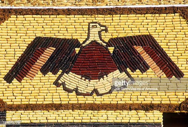 Detail of mosaic on Corn Palace roadside attraction in West Mitchell SD