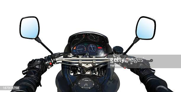 detail of motorbike - handlebar stock photos and pictures