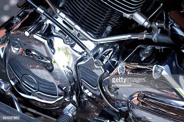 Detail des Motorrad-Motor