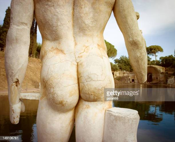Detail of Naked statue at Hadrian's Villa's Canopus