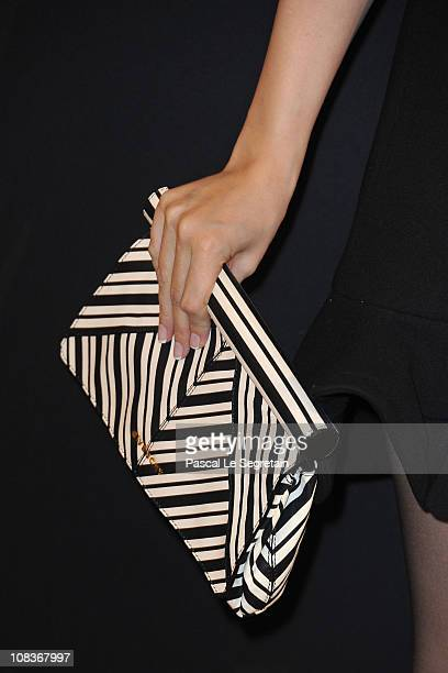 A detail of Nancy Ajram as she arrives at the Elie Saab show as part of the Paris Haute Couture Fashion Week Spring/Summer 2011 at Palais de Chaillot...