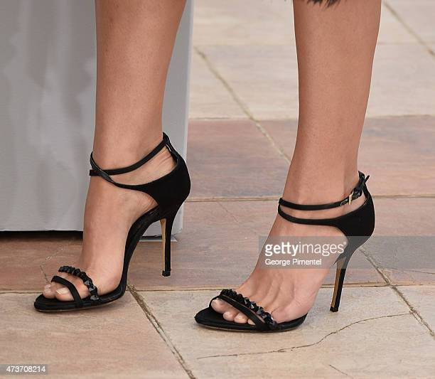 A detail of Natalie Portman's shoes at the 'A Tale Of Love And Darkness' Photocall during the 68th annual Cannes Film Festival on May 17 2015 in...