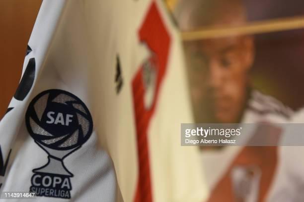 Detail of Nicolas De la Cruz jersey in the dressing room before a second leg Quarter Final match of Copa de la Superliga 2019 between River Plate and...