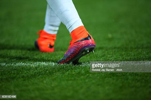 Detail of Nike Hypervenom football boots during the Sky Bet Championship match between Huddersfield Town and Wigan Athletic at John Smith's Stadium...