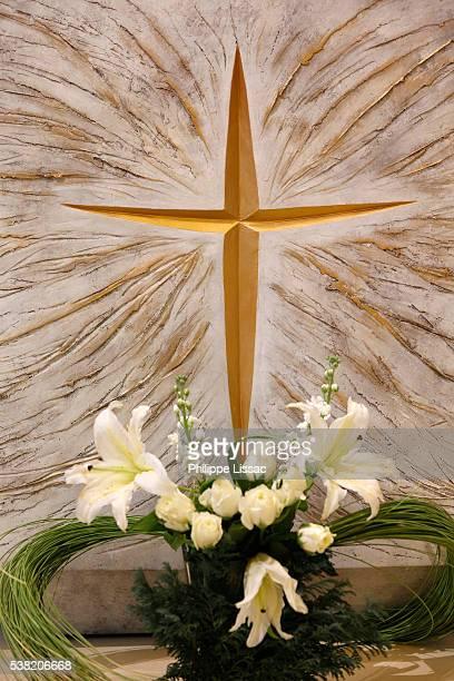 Detail of Notre-Dame du Sourire chapel's tabernacle