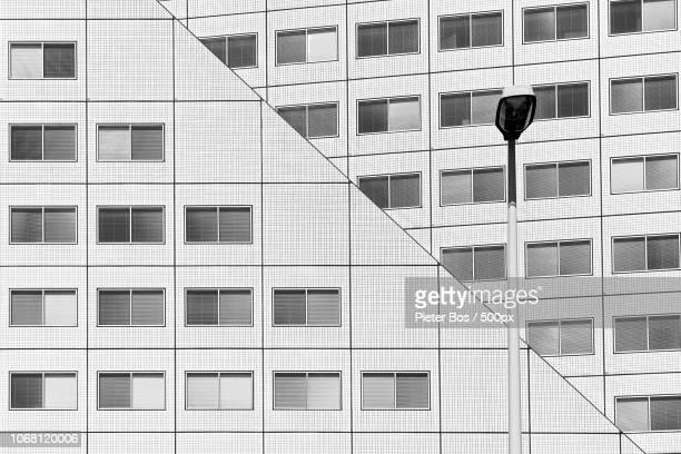 Detail of office building, Maasboulevard, Rotterdam, Netherlands