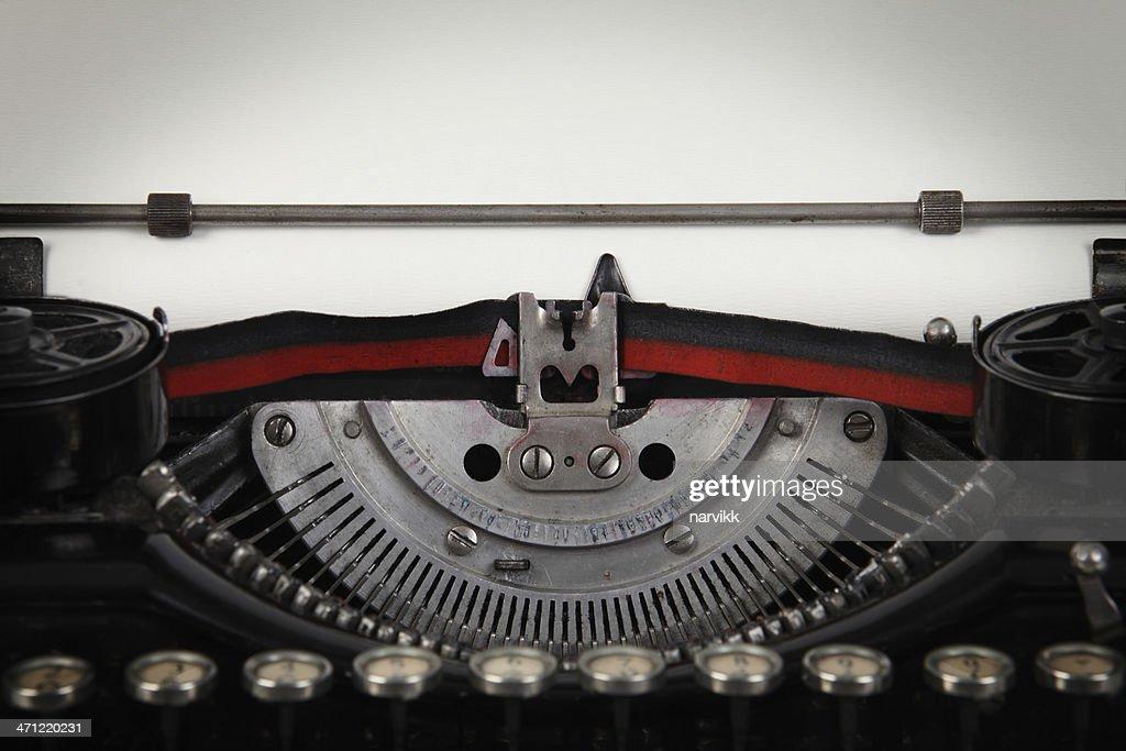 Detail of Old Typewriter : Stock Photo