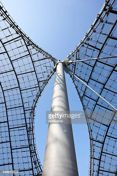 Detail of Olympic Stadium Roof in Munich Germany
