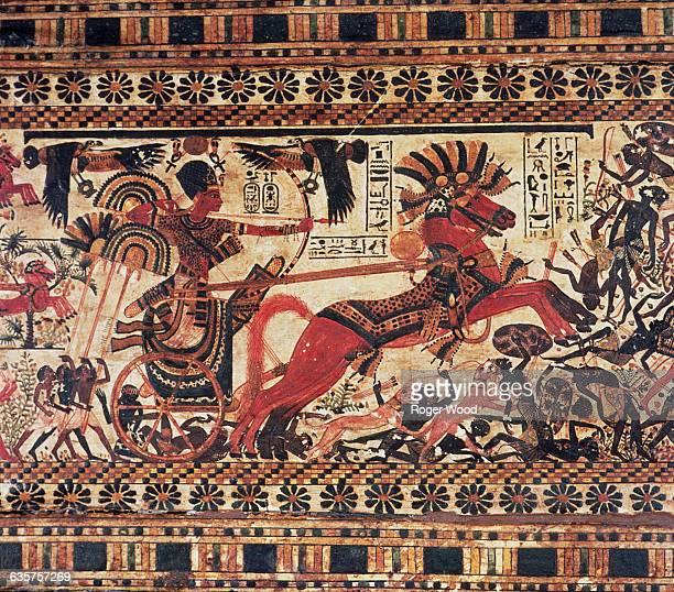 Detail of Painted Casket of Tutankhamun