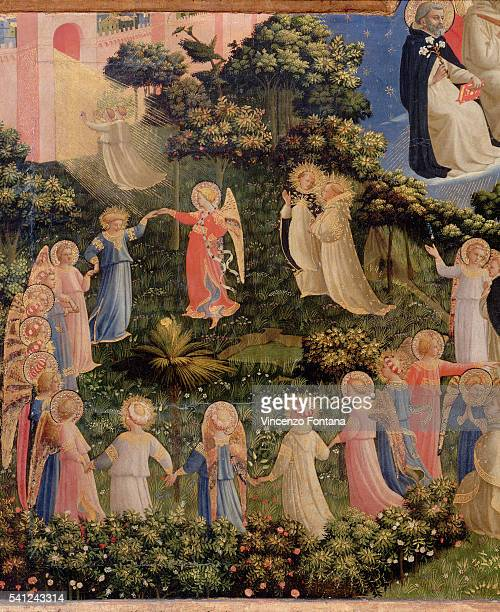 Detail of Paradise from Last Judgment by Fra Angelico