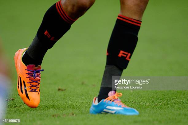 Detail of player boots during the match between Flamengo and Cruzeiro for the Brazilian Series A 2013 at Maracana on December 7 2013 in Rio de...