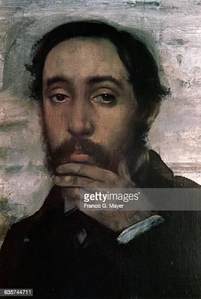 Detail of Portrait of Degas and Evariste de Valernes by Edgar Degas
