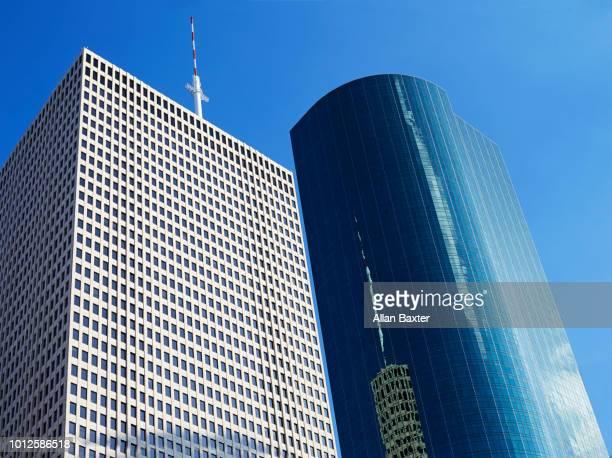 Detail of Postmodern skyscrapers in Houston