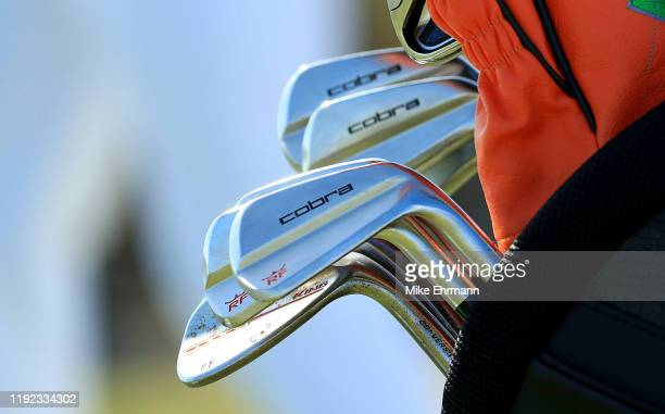 Detail of Rickie Fowler of the United States irons during the third round of the Hero World Challenge on December 06, 2019 in Nassau, Bahamas.