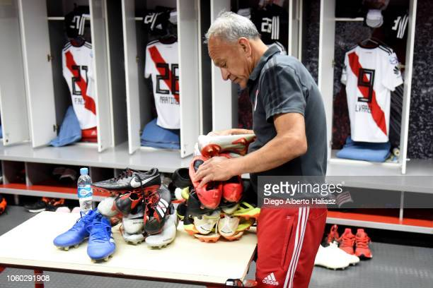 Detail of River Plate the dressing room before a match between River Plate and Aldosivi as part of Superliga 2018/19 at Estadio Monumental Antonio...