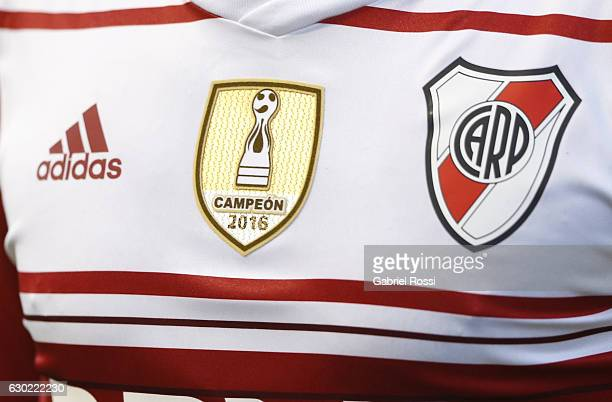 Detail of River Plate´s jersey during a match between Olimpo and River Plate as part of Torneo Primera Division 2016/17 at Roberto Natalio Carminatti...