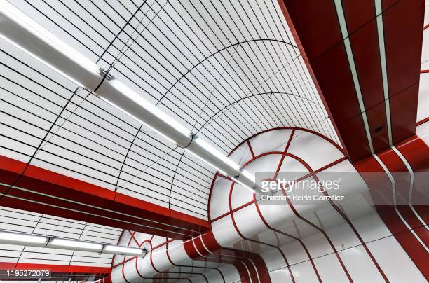 detail of roof of the subway station ostbahnhof, munich, germany - christian beirle gonzález stock pictures, royalty-free photos & images