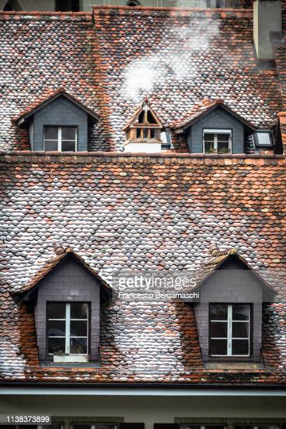 Detail of roofs of the historical center. Bern, Canton of Bern, Switzerland, Europe.