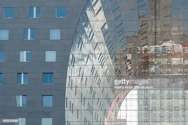 Detail of rotterdam's Markthal building June 16 2015