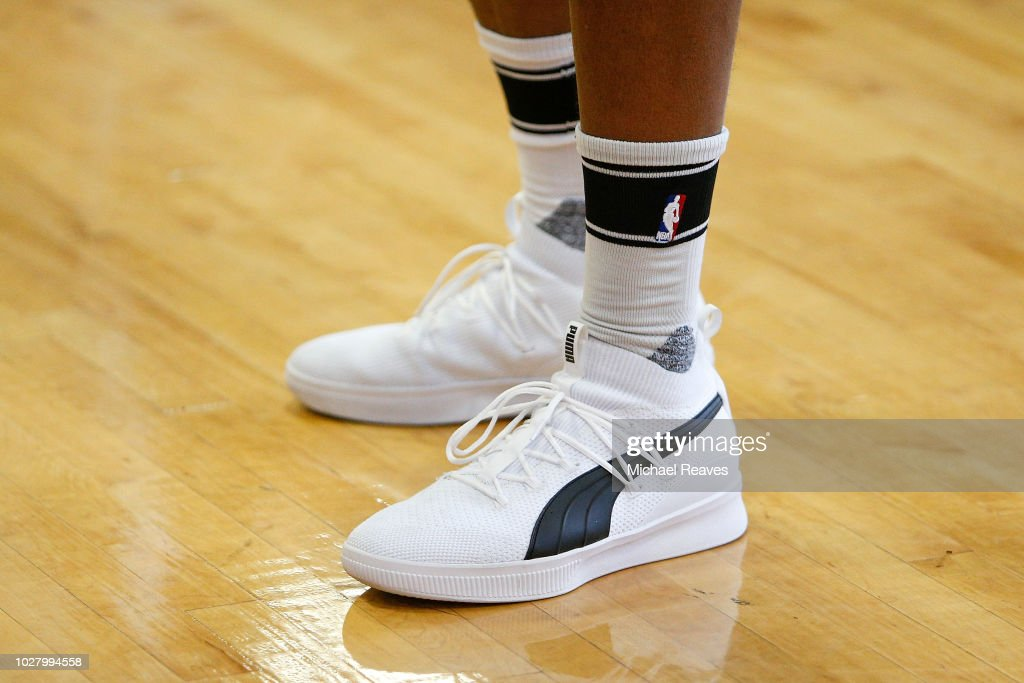 b93afc4d1fe A detail of Rudy Gay of the San Antonio Spurs Puma shoes during NBA ...