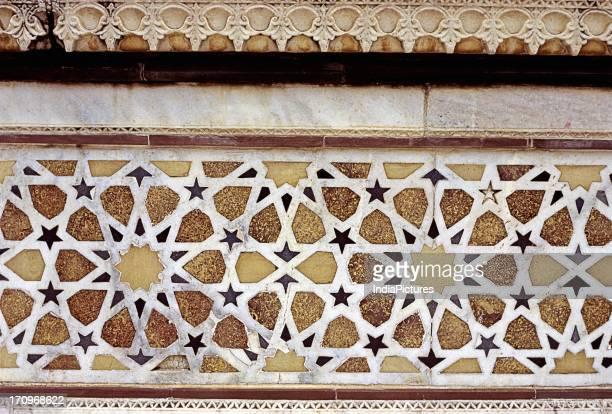 Detail of Salim Chishti's Tomb, Jama Masjid, Agra, Uttar Pradesh, India.
