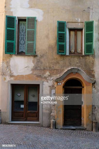 PIEMONTE SALUZZO CUNEO ITALY A detail of Saluzzo one of ten most beautiful little villages in Italy Saluzzo is a village of Piemonte region northern...