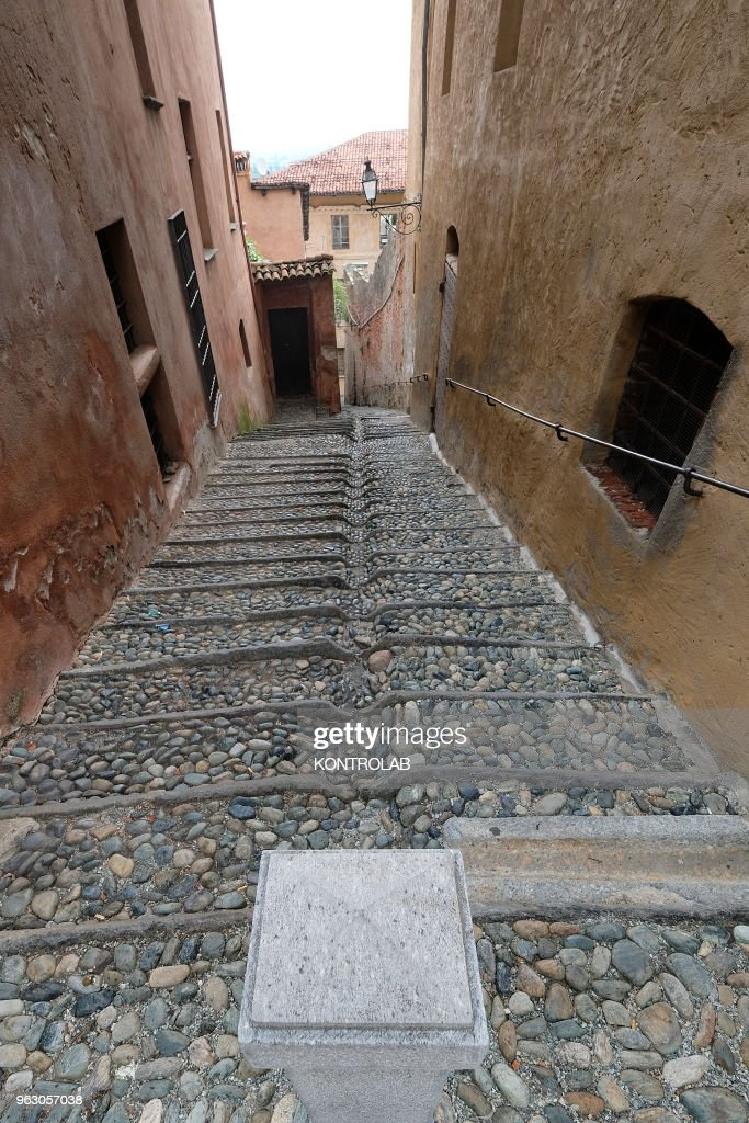A detail of Saluzzo, one of ten most beautiful little... : News Photo