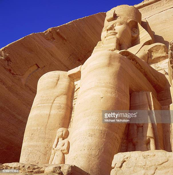 Detail of Seated Colossi of Ramesses II at Abu Simbel
