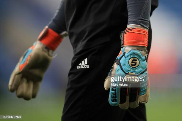 Detail of Select 88 Pro Grip goalkeeping gloves during the Carabao Cup Second Round match between Leicester City and Fleetwood Town at The King Power...