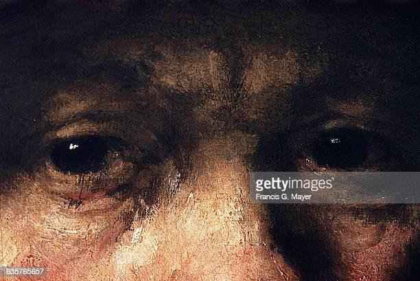Detail of SelfPortrait by Rembrandt Harmensz van Rijn