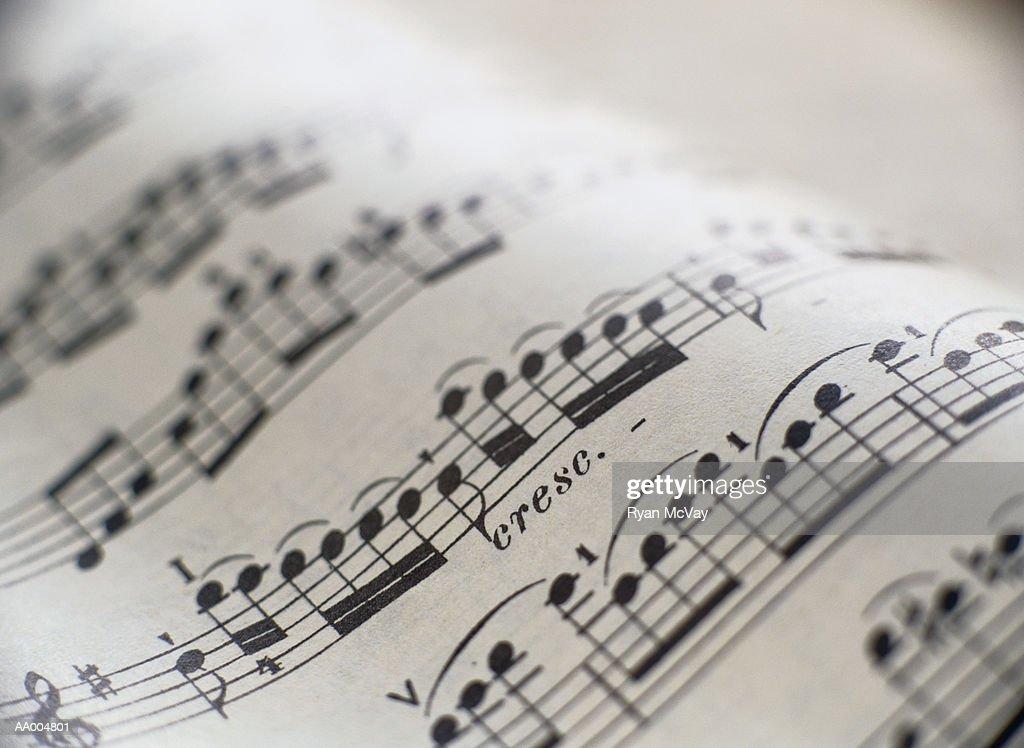 Detail of Sheet Music : Stock Photo