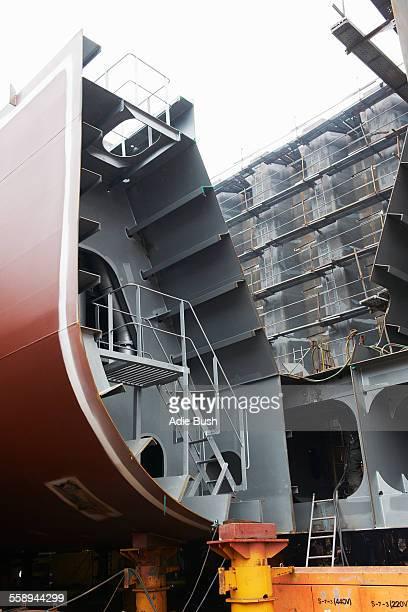 Detail of ship in shipyard, GoSeong-gun, South Korea