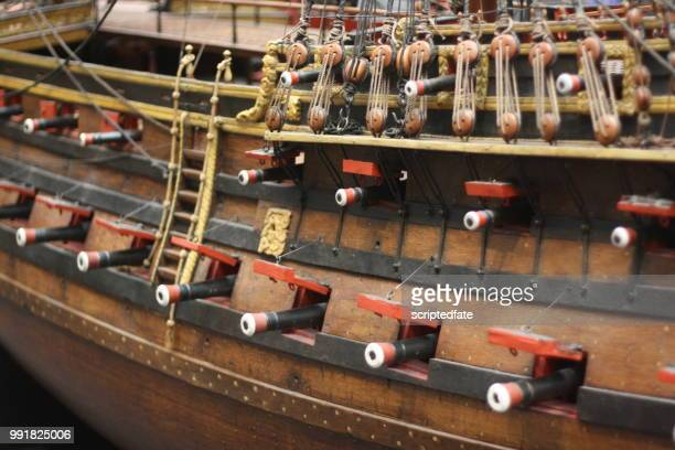 """detail of ship model """"william rex - grinder sandwich stock pictures, royalty-free photos & images"""