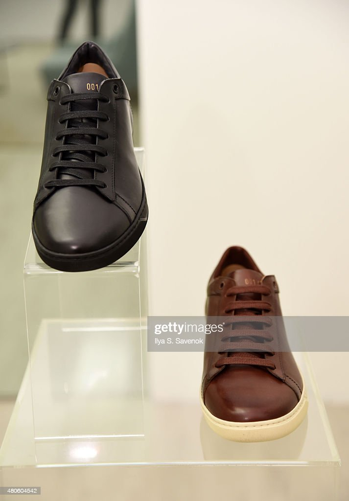 Detail of shoes at Woollier Cocktail during New York Fashion Week: Men's S/S 2016 on July 13, 2015 in New York City.