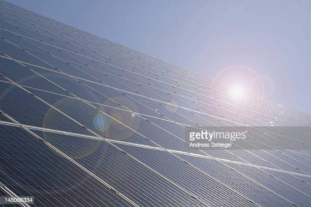 detail of solar panels - andreas solar stock pictures, royalty-free photos & images
