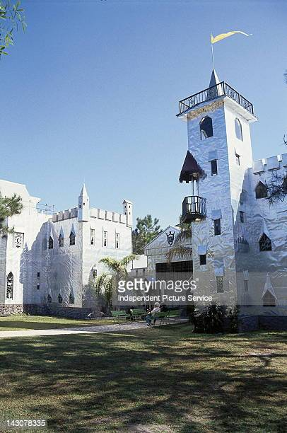 Detail of Solomon's Castle in Ona Florida this structure was built entirely by the hands of the artist Howard Solomon an internationally known...