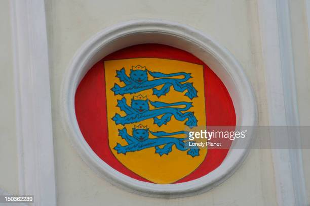detail of st canutus guild hall. - harjumaa stock pictures, royalty-free photos & images