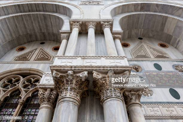 detail of st. mark's basilica, st. mark's square - terence waeland stock pictures, royalty-free photos & images