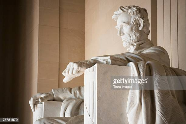 Detail of statue in Lincoln Memorial Washington DC USA