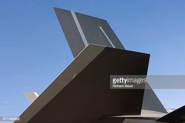 Detail of stealth technology surfaces on a LockheedMartin F35 II Joint Strike Fighter at the Farnborough Air Show England The Lockheed Martin F35...