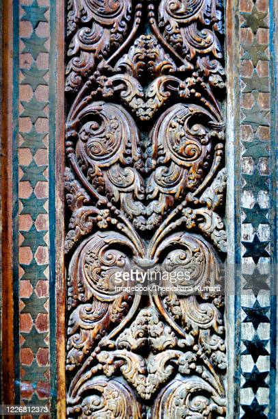 detail of stone decorative in temple of the tooth. - imagebook stock pictures, royalty-free photos & images