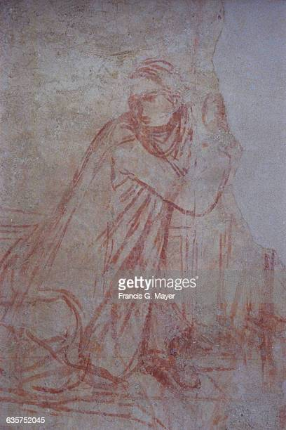 Detail of Study for The Annunciation by Ambrogio Lorenzetti