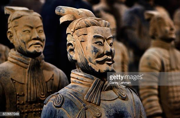 Detail of Terracotta Statues in Qin Shi Huangdi Tomb